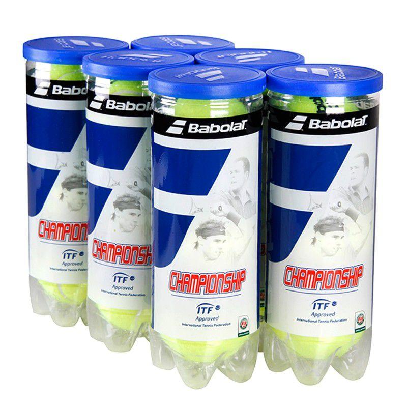 Bola de Tênis Babolat Championship - 6 tubos - 18 bolas