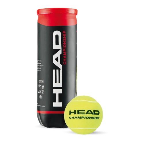 Bola de Tenis Head Championship - Pack com 6 tubos  18 bolas
