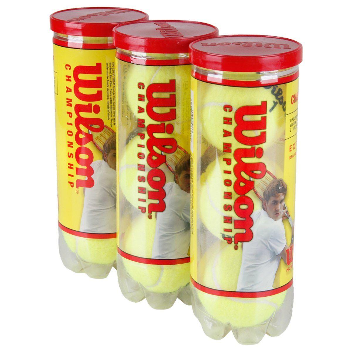 Bola de Tenis Wilson Championship - Pack com 3 tubos   9 Bolas.