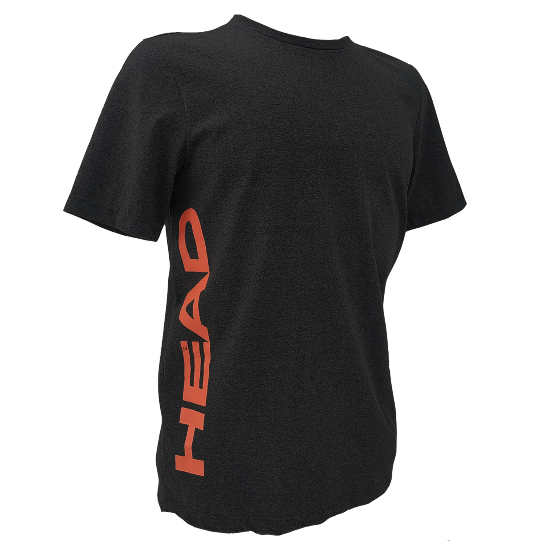 Camiseta Head Basica Masc. - Cinza ou Preta c/ laranja