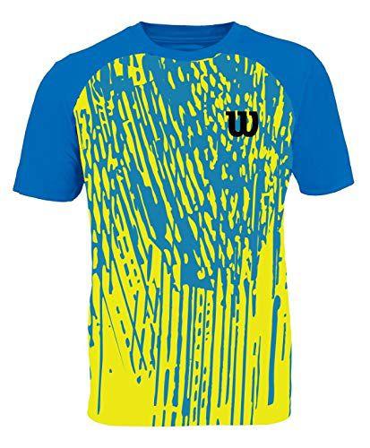 Camiseta Wilson Performance I Masculino - Azul e Amarelo