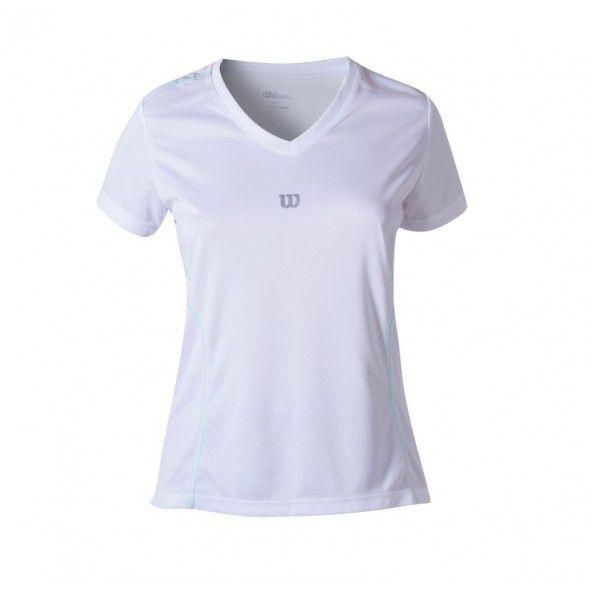 Camiseta Wilson Performance II SS Branco/Verde Água