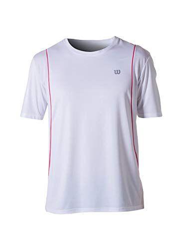 Camiseta Wilson Tour II Masculina - Branco e Laranja