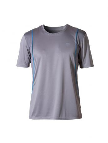 Camiseta Wilson Tour II Masculina - Cinza e Azul
