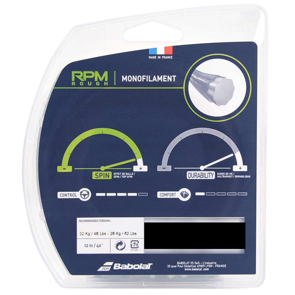 Corda Babolat RPM ROUGH SPIN MAX -set  (cores)