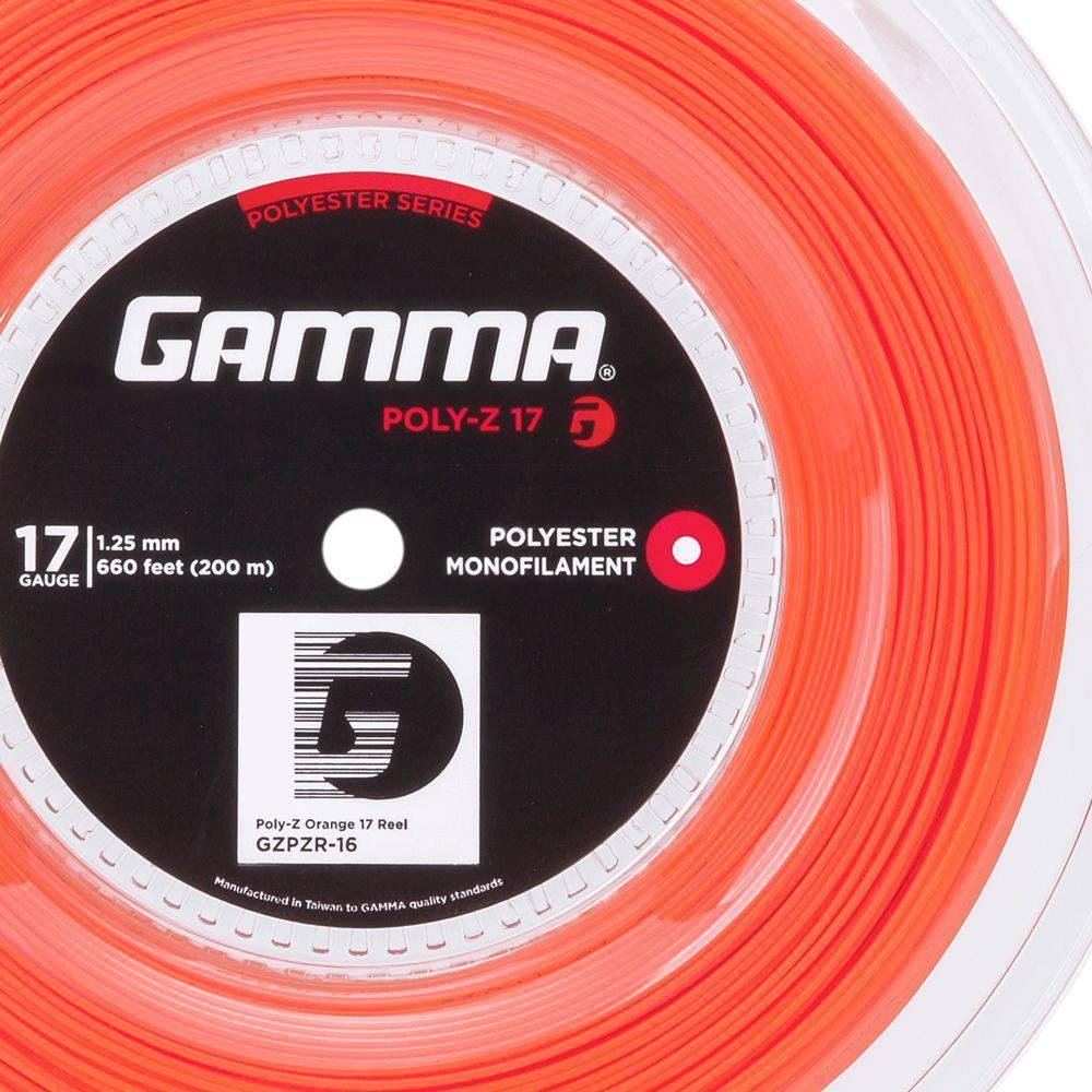 Corda Gamma Poly Z 17L 1.25mm Laranja - Rolo com 200 Metros
