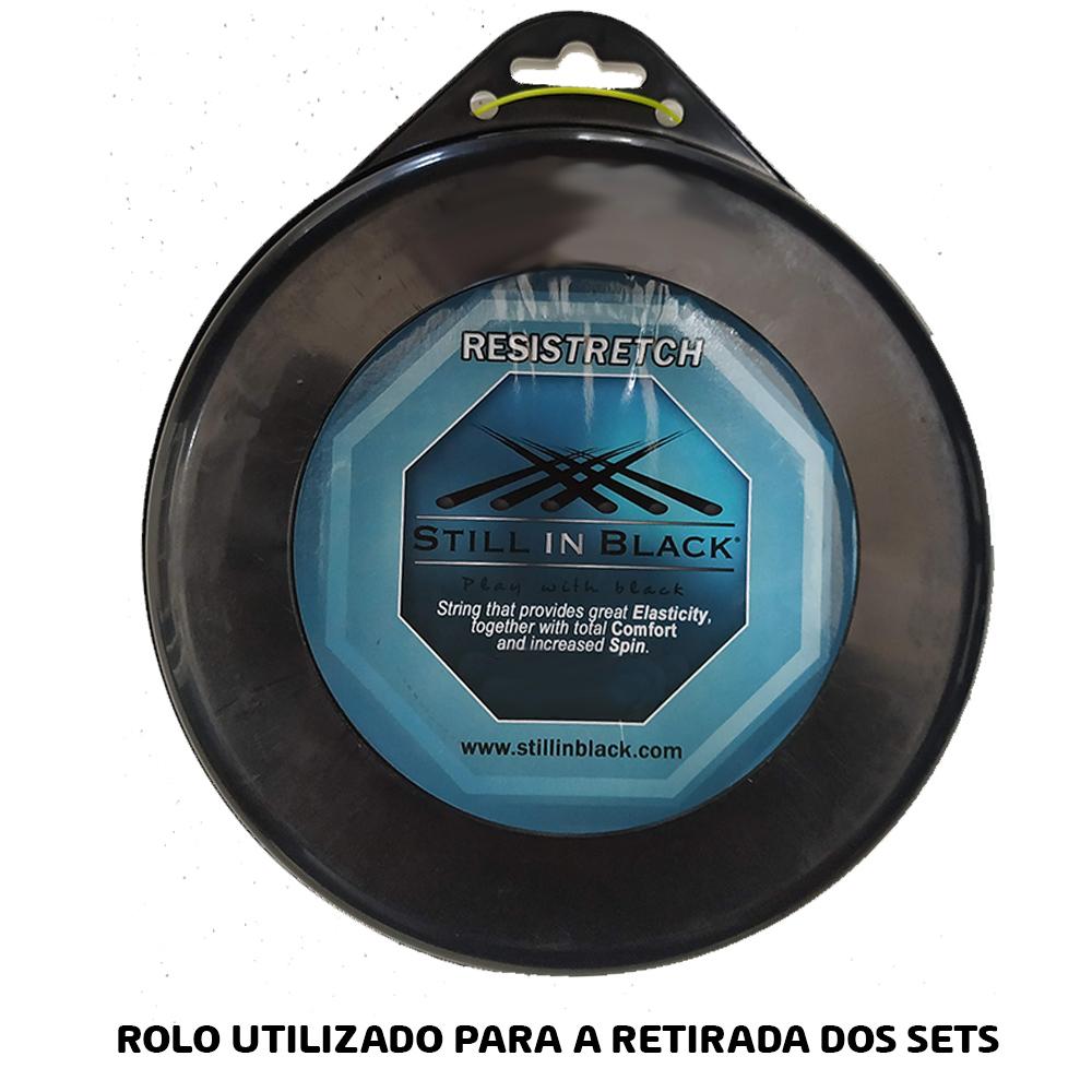 Corda Still in Black - RESISTRETCH 1.25mm  Amarelo Neon - Set Individual