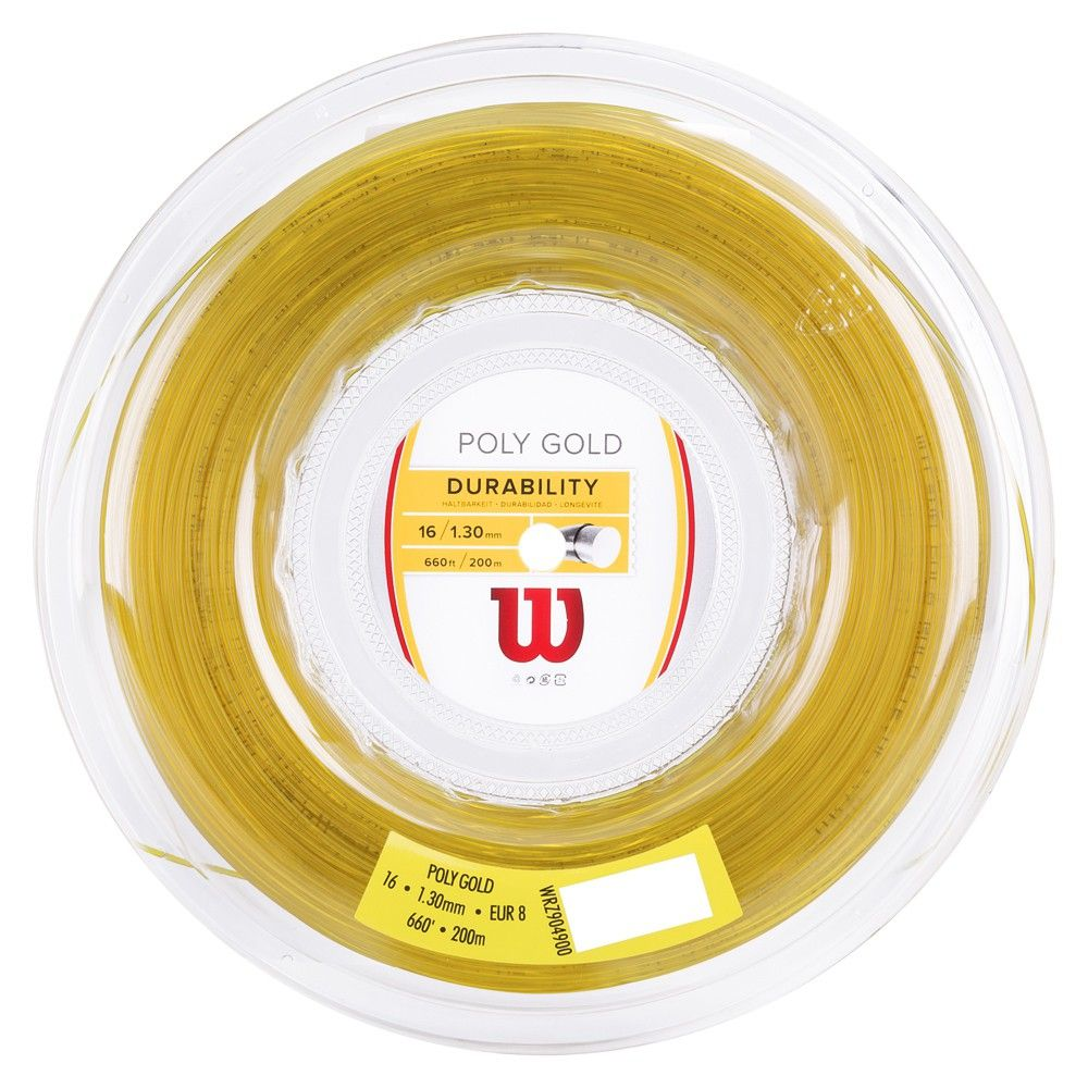 Corda Wilson Poly Gold 16L 130MM - Rolo com 200 Metros