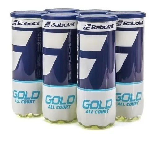 Pack com 6 tubos de Bola Babolat  GOLD ALL COURT