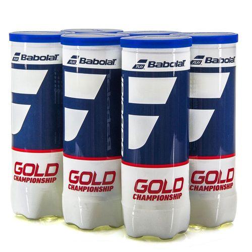 Pack com 6 tubos de Bola Babolat  GOLD Championship