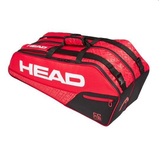 Raqueteira Head Core 6R Combi - Preto/Vermelho