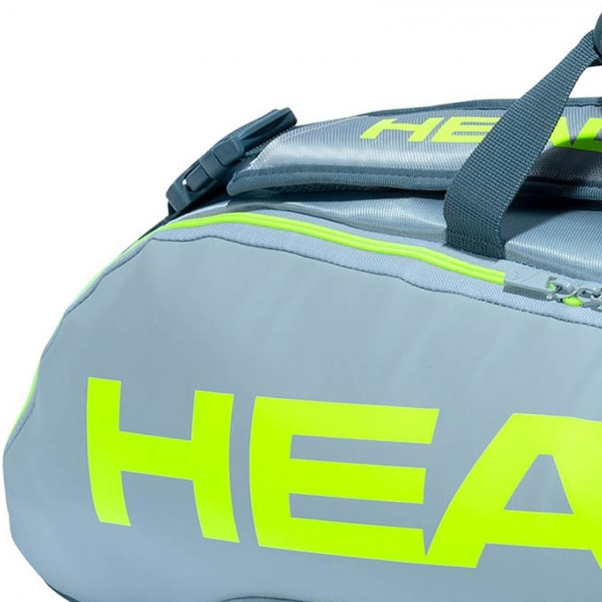Raqueteira Head Team 6R Combi - Cinza / Neon