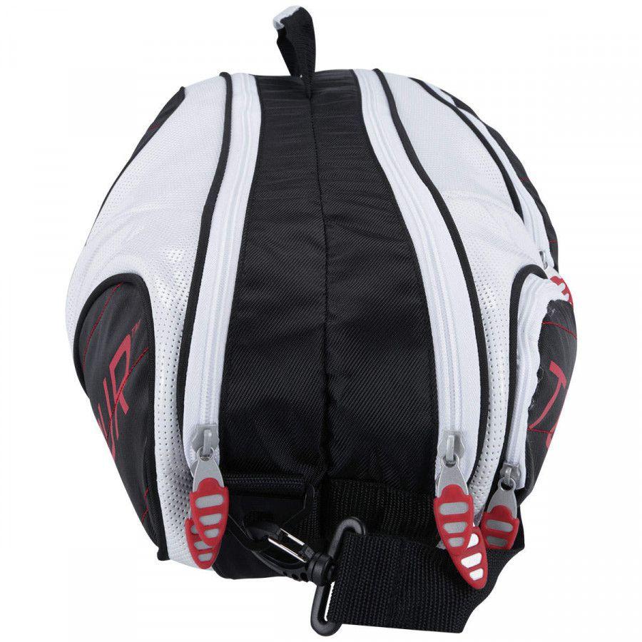 Raqueteira Wilson Esportiva Tour 6 Pack - Preto e Branco