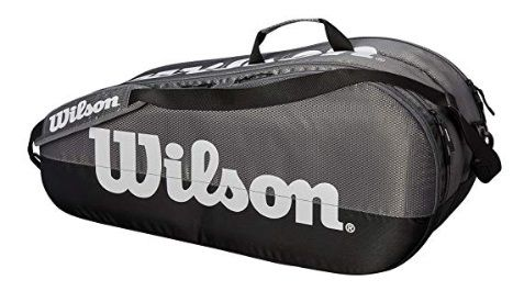 Raqueteira Wilson Team 2 Comp X6 - Cinza/Preto