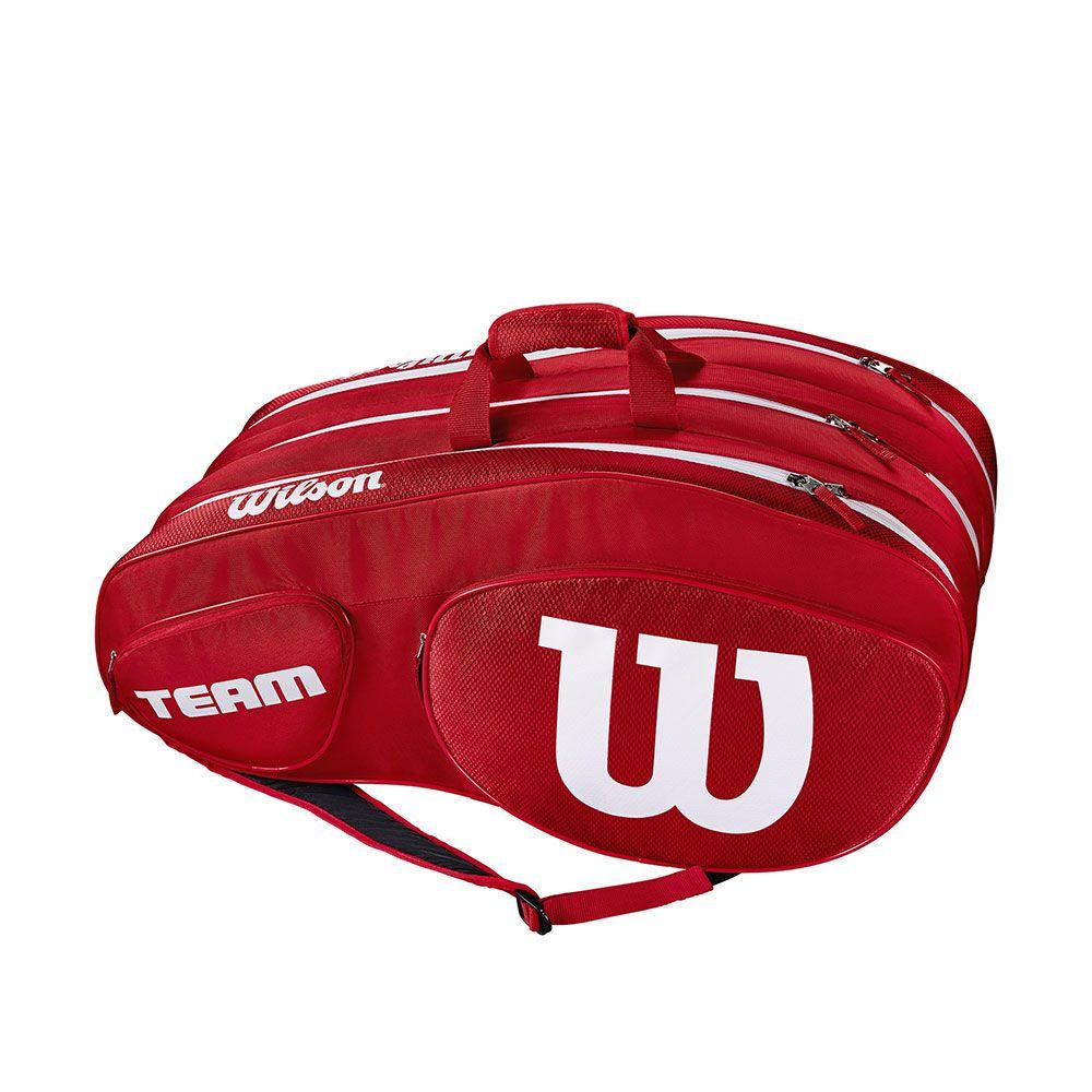 Raqueteira Wilson Team lll x12 Vermelha