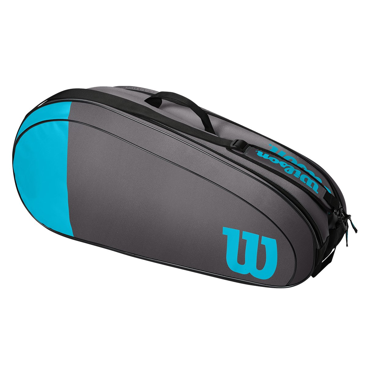 Raqueteira Wilson Team  X6  Dupla -Cinza/Azul
