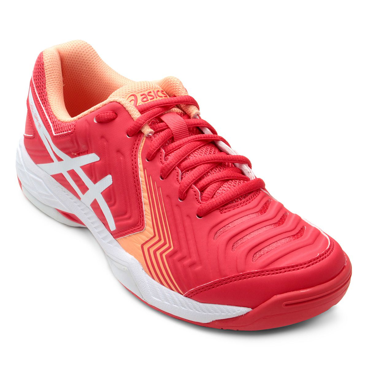 9a62e9f08a Tênis Asics Gel Game 6 Feminino - Vermelho e Branco - Sou Tenista ...
