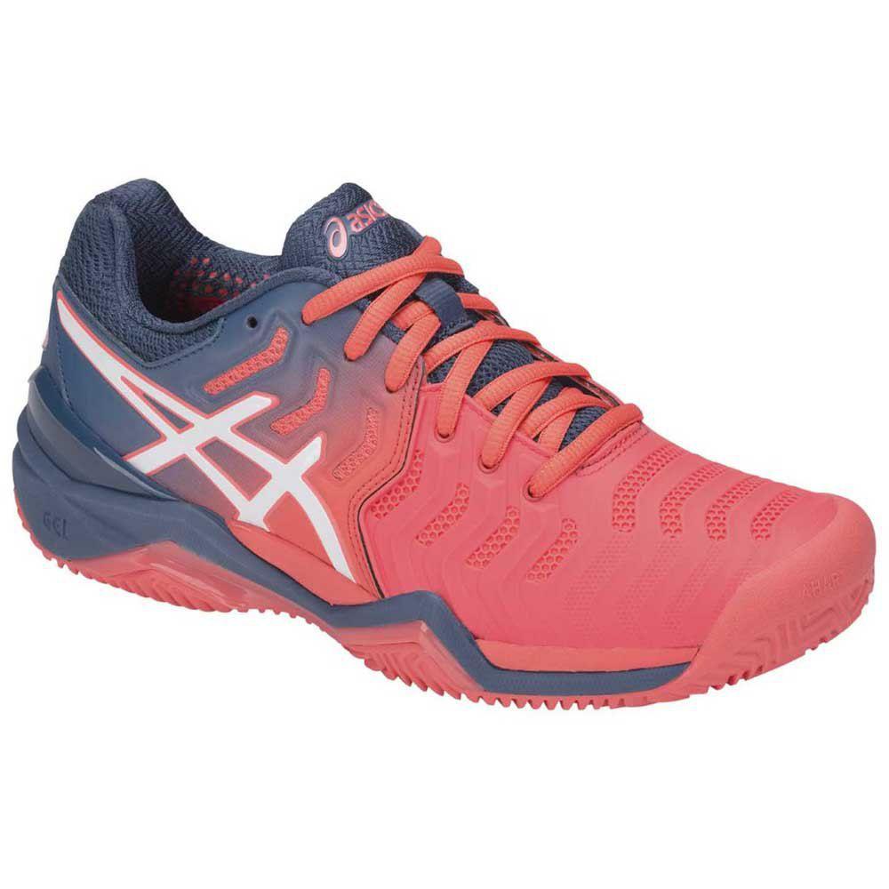 Tenis Asics Gel Resolution 7 Clay - Azul e Rosa