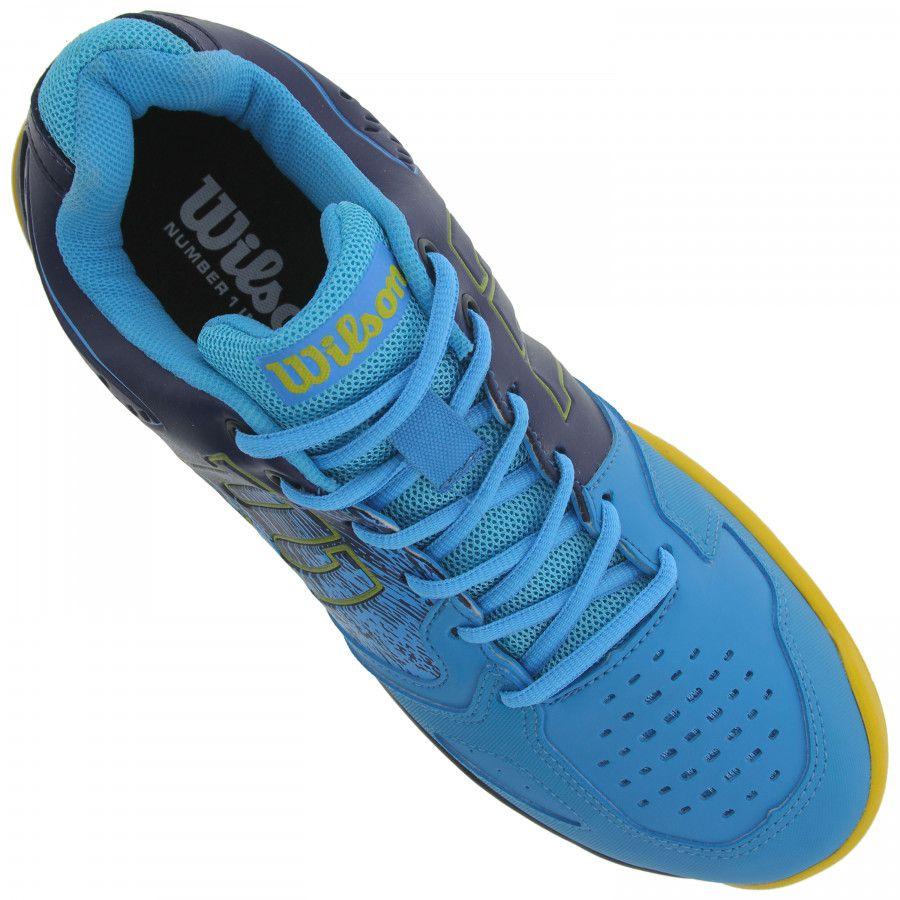 Tênis Wilson K Energy Azul e Amarelo