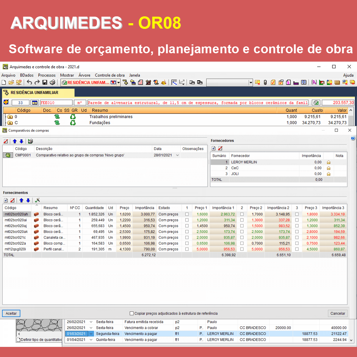 """Software Arquimedes OR08 versão 2021 (Licença Eletrônica) incluindo a modulação descrita em """"Itens Inclusos"""" a seguir  - MULTIPLUS SOFTWARES"""