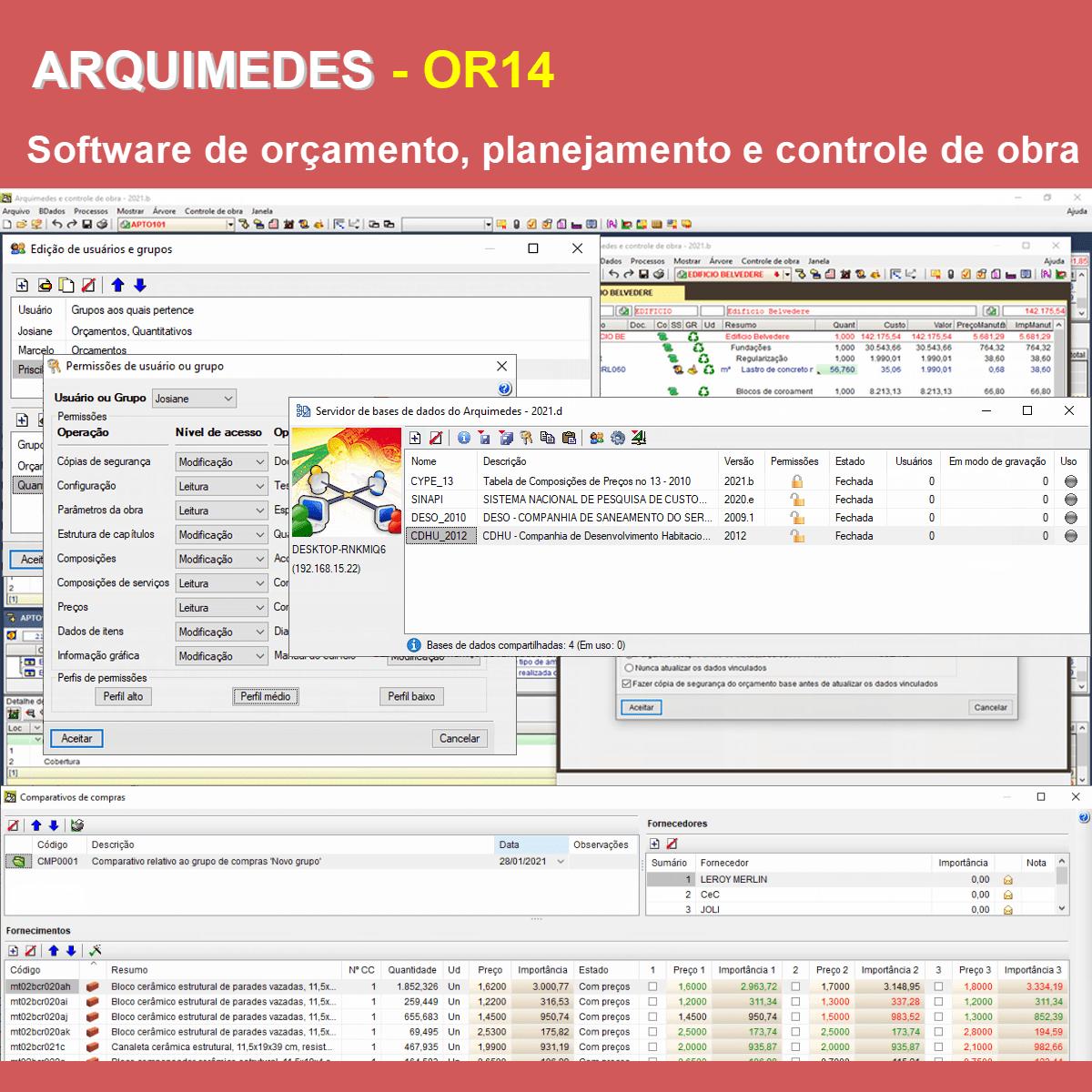 """Software Arquimedes OR14 versão 2021 (Licença Eletrônica) incluindo a modulação descrita em """"Itens Inclusos"""" a seguir  - MULTIPLUS SOFTWARES"""
