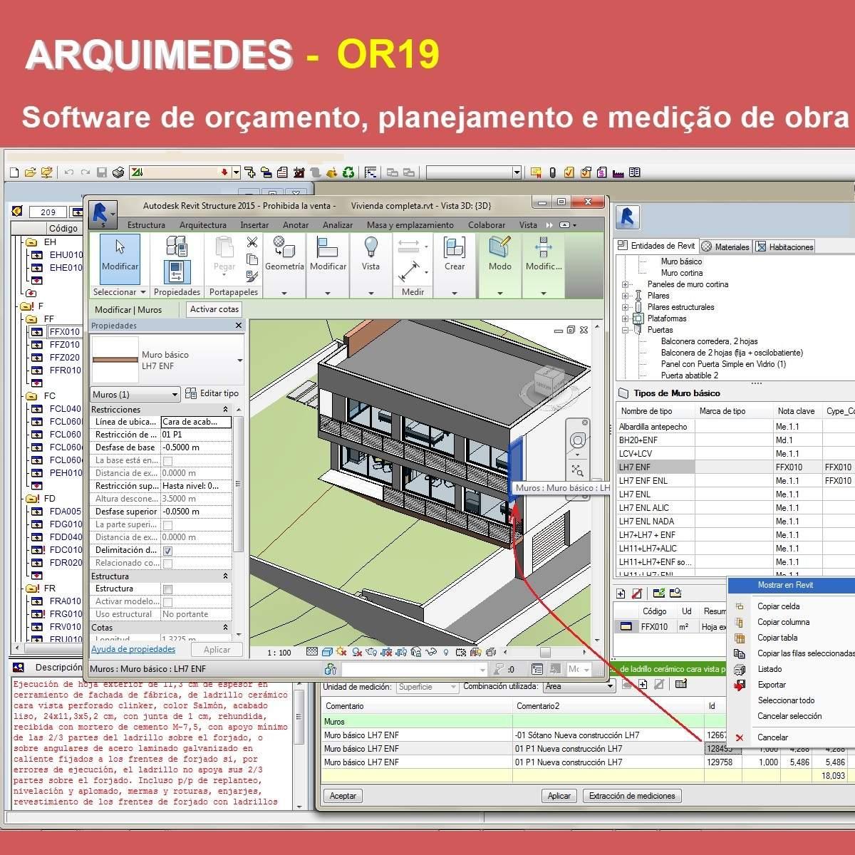 Software Arquimedes OR19 versão 2022 (Licença Eletrônica) incluindo Orçamento, Planejamento, Medição de Obras e Interface com Revit  - MULTIPLUS SOFTWARES