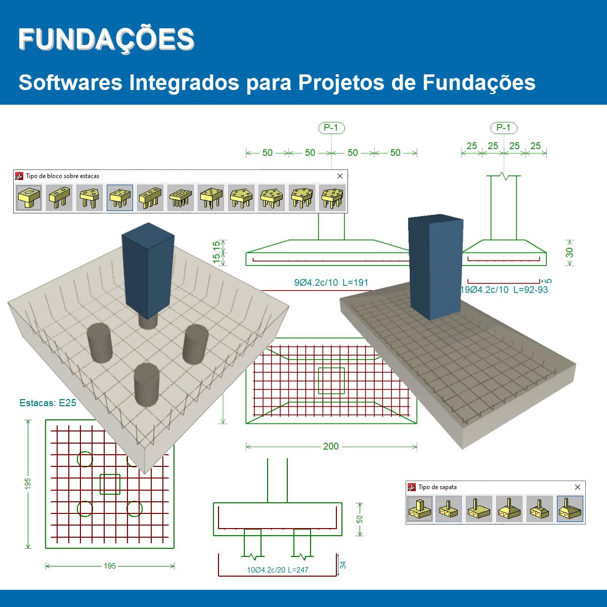 """Software Fundações versão 2022 (Licença eletrônica) incluindo a modulação descrita em """"Itens Inclusos"""" a seguir  - MULTIPLUS SOFTWARES"""