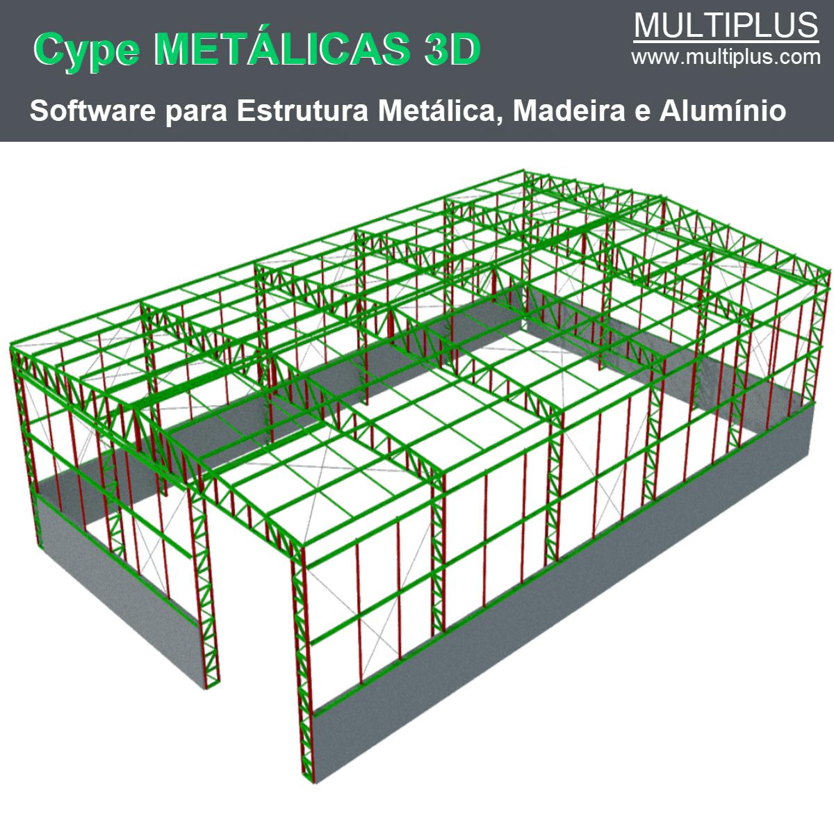 Software Metálicas 3D MT44 versão 2021 (Licença Eletrônica) incluindo Núcleo Básico, Pilares de Concreto e Vigas de Concreto  - MULTIPLUS SOFTWARES