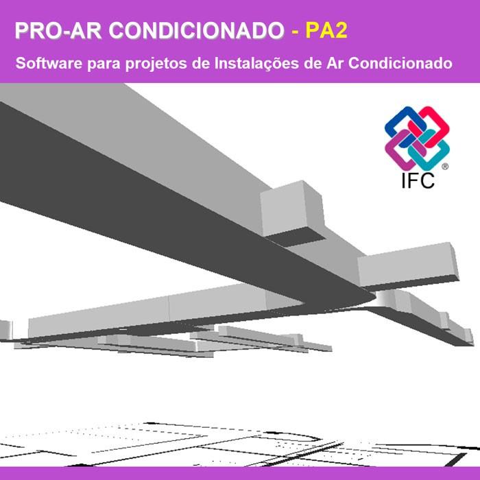 Software PRO-Ar Condicionado versão 18 Pacote PA2 incluindo Exportação em IFC  - MULTIPLUS SOFTWARES