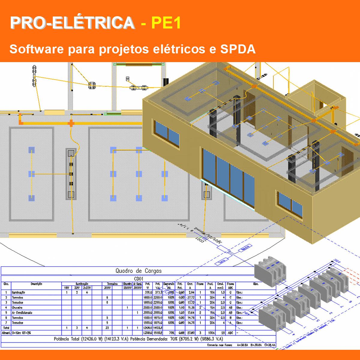 Software PRO-Elétrica versão 18 Pacote PE1 incluindo Detalhamento, Dimensionamento, Cabeamento Estruturado, SPDA, Automação Residencial, Loteamentos e Instalação Fotovoltaica  - MULTIPLUS SOFTWARES