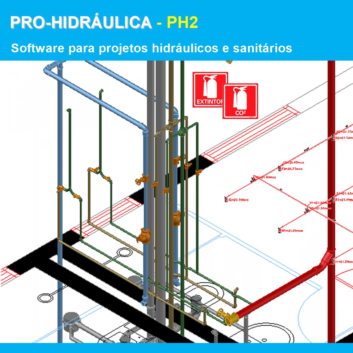 Software PRO-Hidraulica versão 18 Pacote PH2 incluindo Detalhamento, Dimensionamento e Incêndio  - MULTIPLUS SOFTWARES