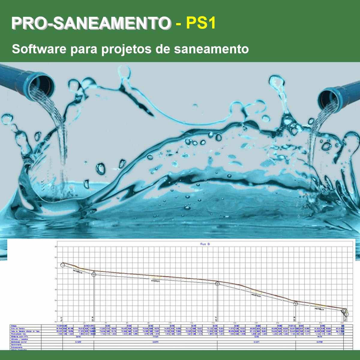 Software PRO-Saneamento versão 18 Pacote PS1  - MULTIPLUS SOFTWARES