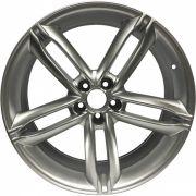 """Jogo 4 rodas Replica Audi A4 2010 aro 19"""" furação 5X100 acabamento hiper prata tala 8"""