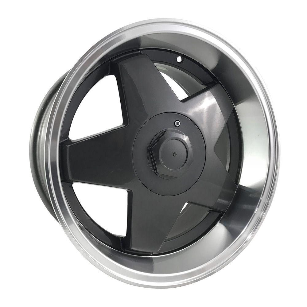 """Jogo 4 rodas Borbet aro 17"""" furação 4x100/5x100 acabamento grafite borda diamantada tala 7/8,5 ET 35"""