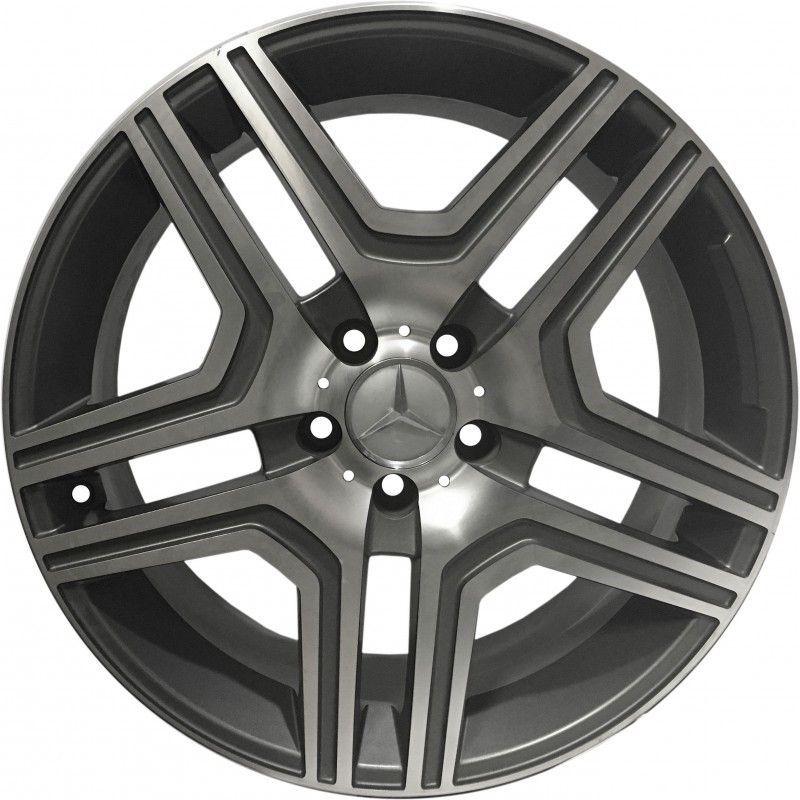 """Jogo 4 rodas Zetta Mercedes ML 2012 aro 19"""" furação 5X114 acabamento grafite e diamante tala 8,5"""