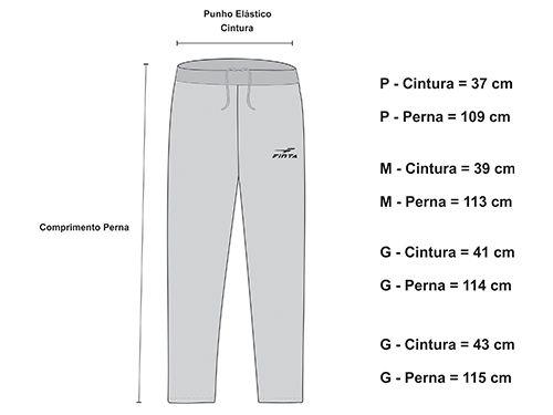 CALÇA DE MOLETON FINTA PRETA - GG