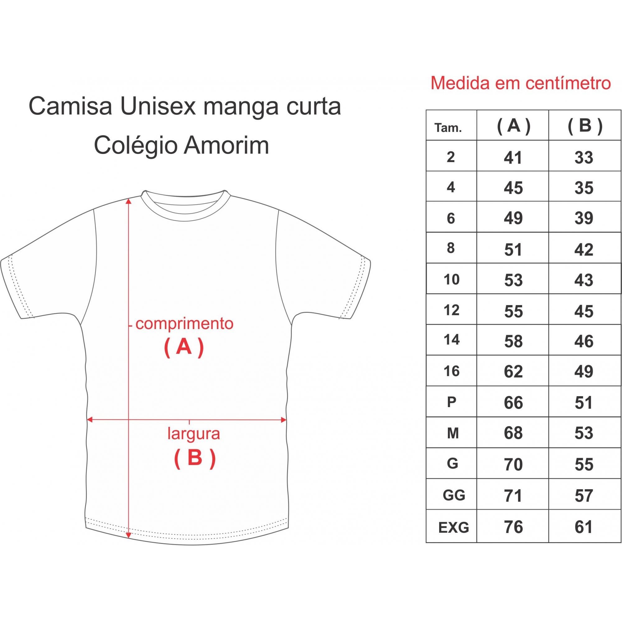 CAMISA UNISEX M/C COLÉGIO AMORIM