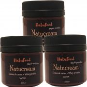 KIT NATUCREAM CACAU + WHEY ISOLADO 3 UNID