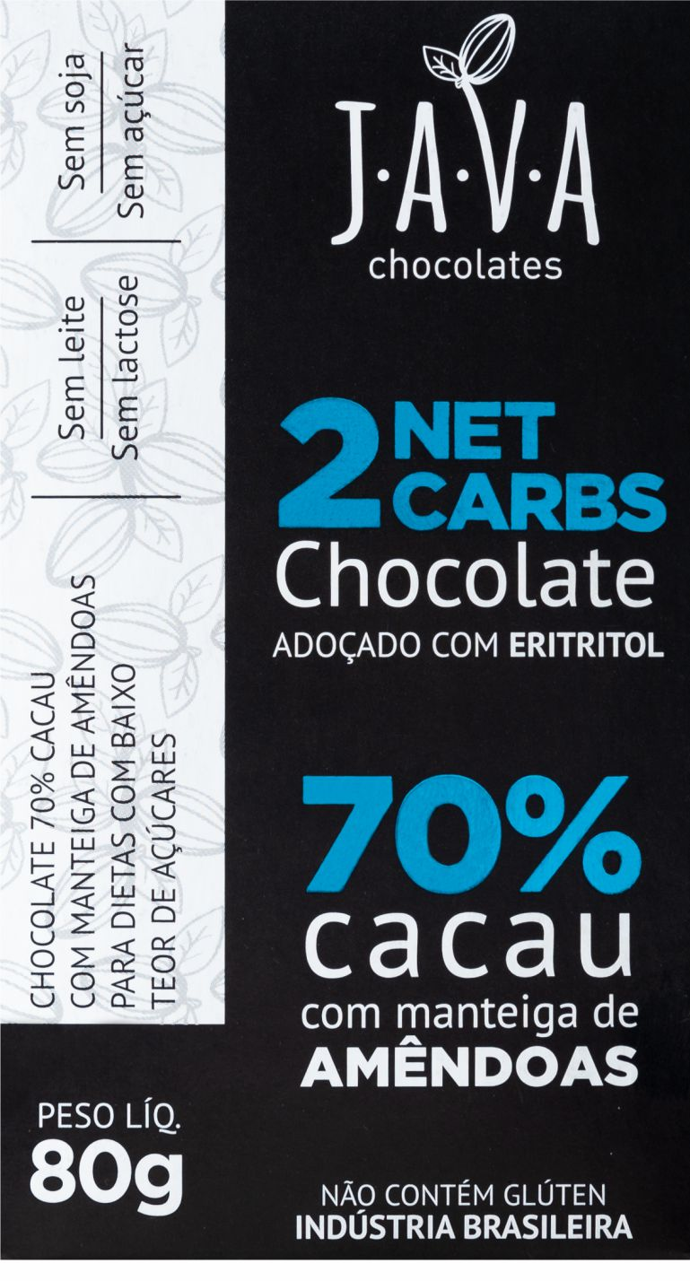 CHOCOLATE 70% c/ ERITRITOL  - Natufood