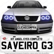 Angel Eyes completo para o farol da Saveiro G3 1999 2000 2001 2002 2003 2004 2005
