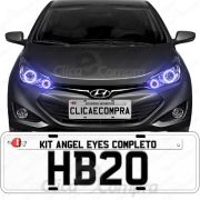 Angel Eyes Completo Para o Farol Do Hyundai Hb20 2012 2013 2014 2015