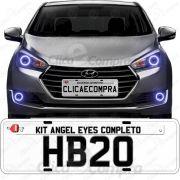 Angel Eyes Completo Para o Farol Do Hyundai Hb20 Hb20X e Hb20S Premium 2015 2016 2017 2018