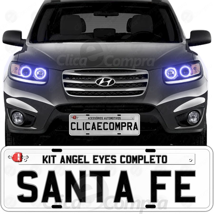 Angel Eyes completo para Hyundai Santa Fé 2007 2008 2009 2010 2011 2012