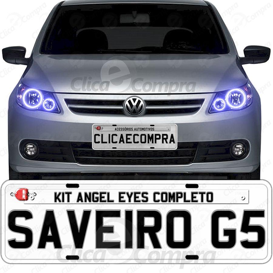 Angel Eyes Completo Para o Farol Da Saveiro G5 2009 2010 2011 2012