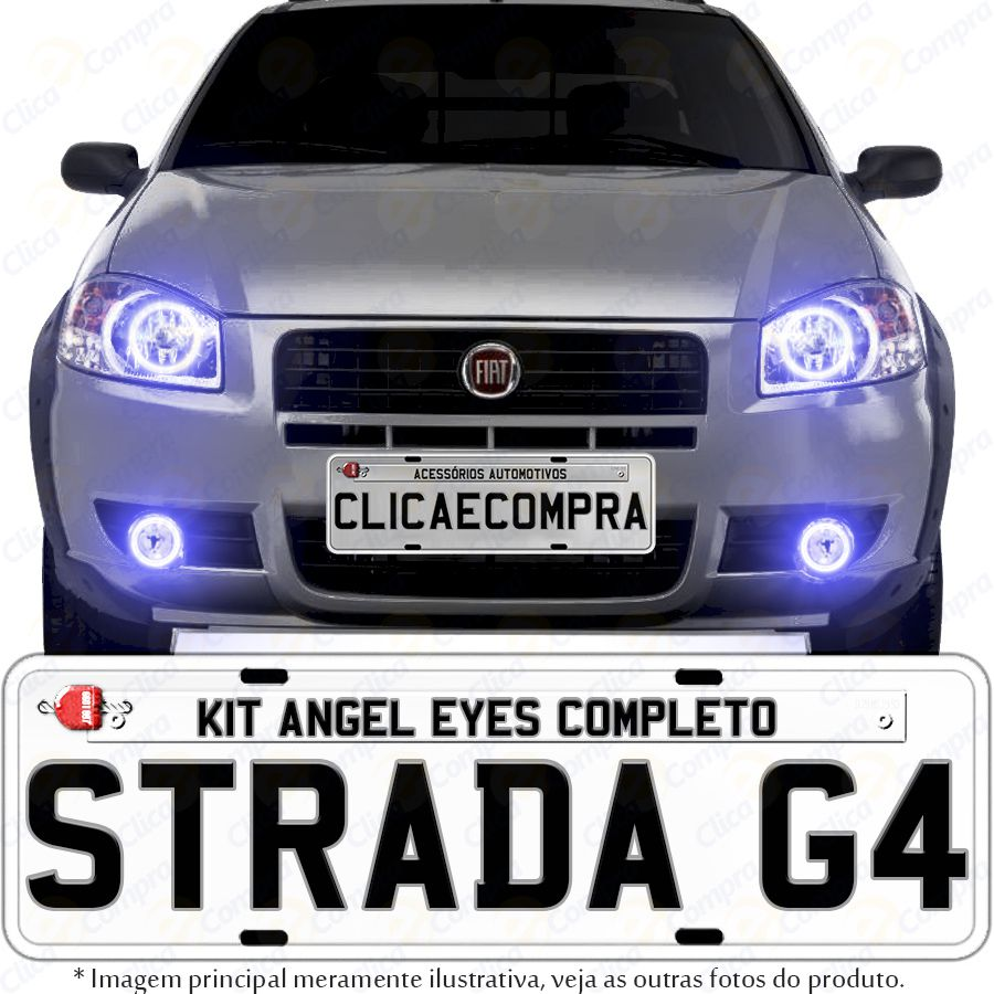 Angel Eyes Completo Para o Farol da Strada Working G4 2010 2011 2012 2013 2014 2015 2016