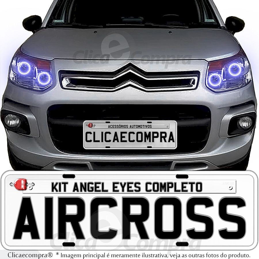 Angel Eyes completo para o farol do C3 Aircross 2011 2012 2013 2014 2015