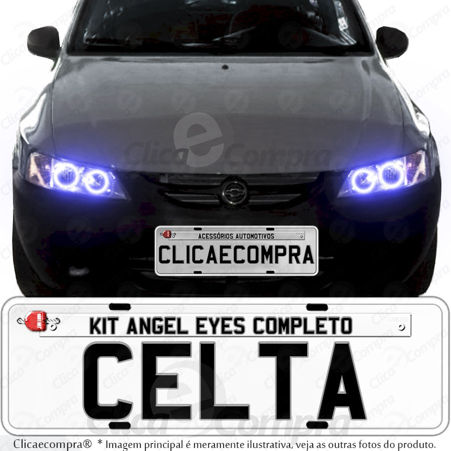 Angel Eyes completo para o farol do Celta 2000 2001 2002 2003 2004 2005 2006