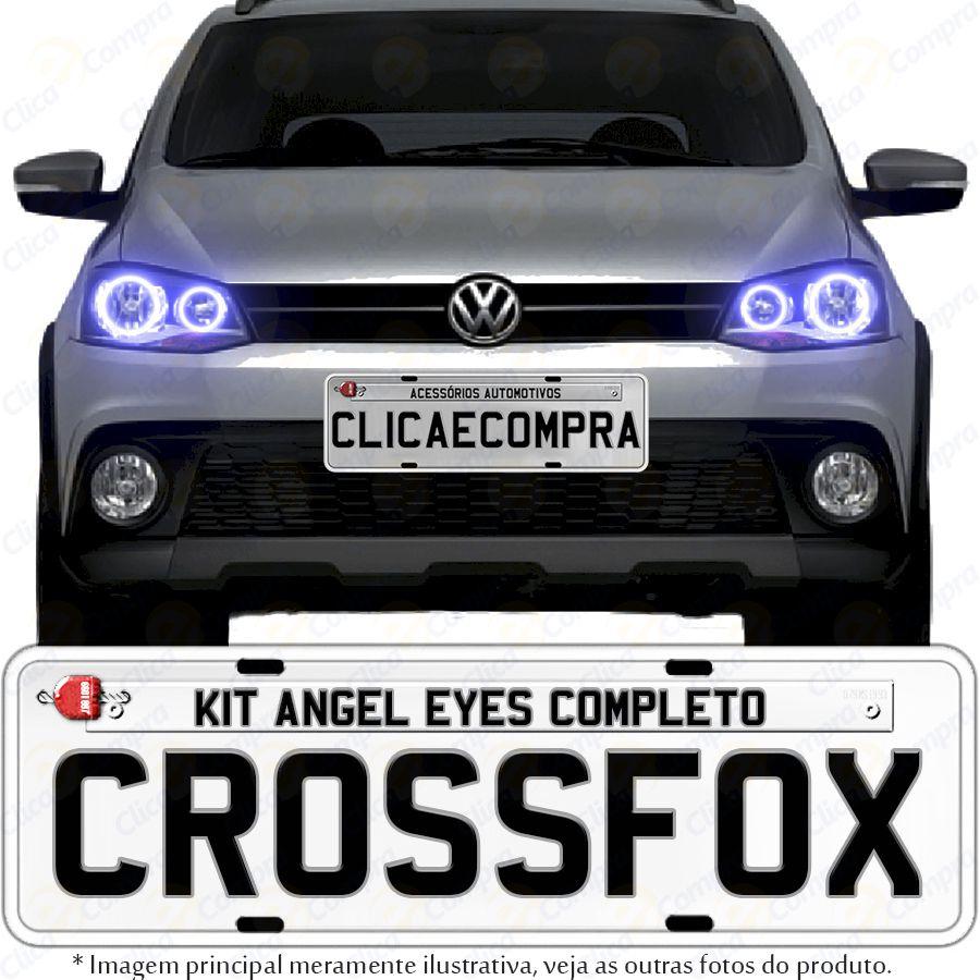 Angel Eyes completo para o farol do Crossfox 2010 2011 2012 2013 2014