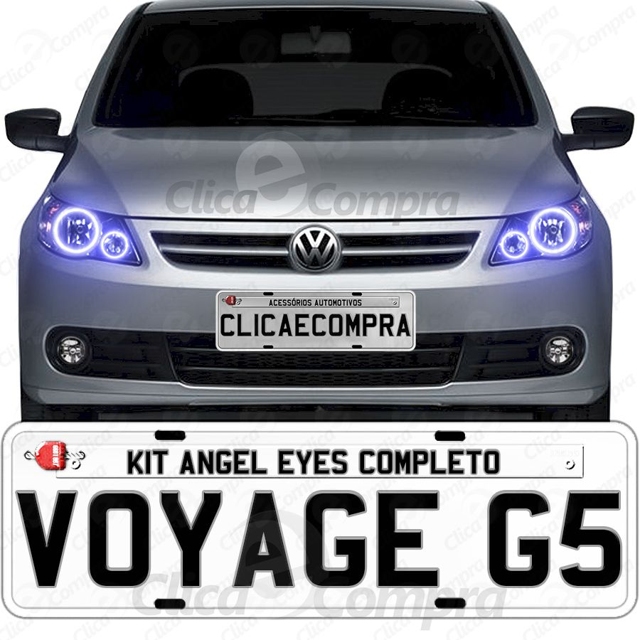 Angel Eyes Completo Para o Farol Do Voyage G5 2009 2010 2011 2012