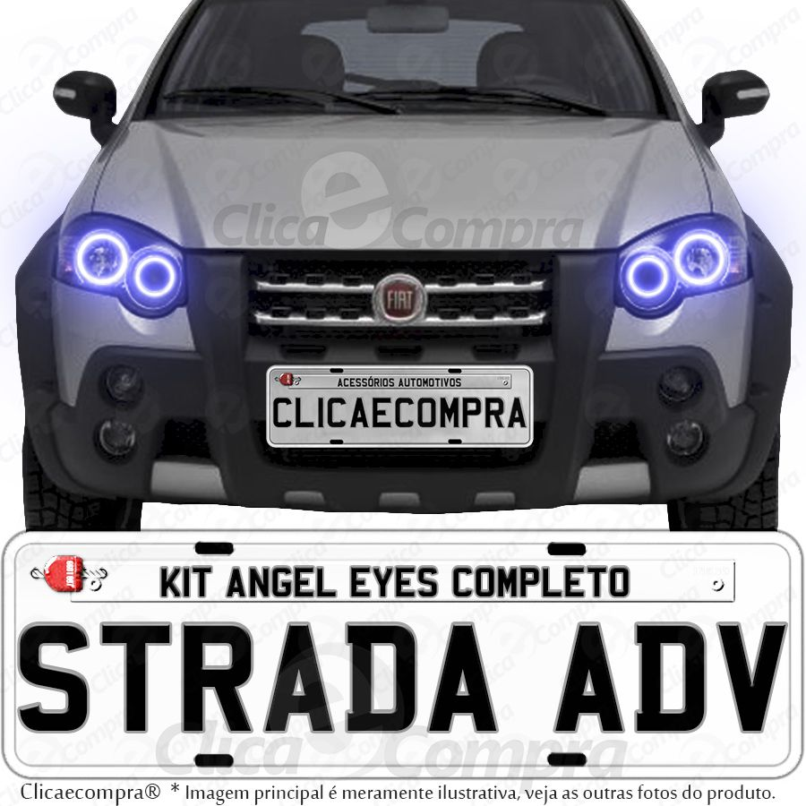 Angel Eyes Para o Farol da Strada Adventure 2010 2011 2012 2013 2014 2015 2016